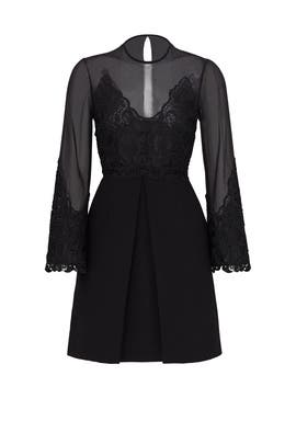 Black Illusion Lace Dress by Jill Jill Stuart