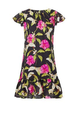 Black Floral Jill Dress by Milly