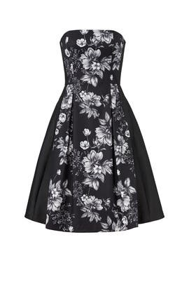 Floral Strapless Dress by Sachin & Babi