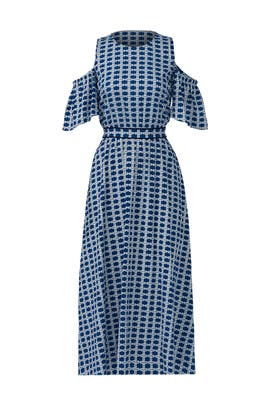 Blue Shiloh Dress by Tanya Taylor