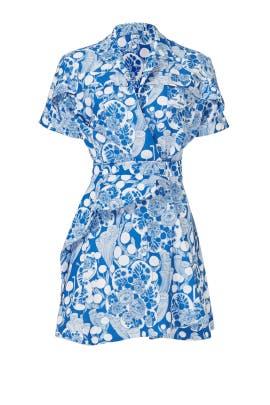 Blue Tokyo Print Dress by Carven