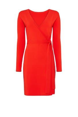 Red Knit Wrap Dress by Diane von Furstenberg