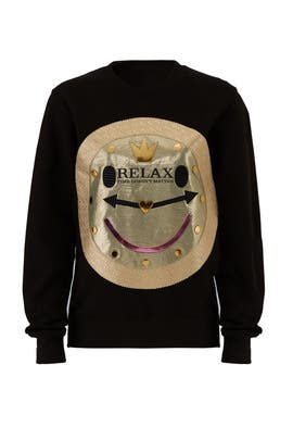 Black Relax Sweatshirt by Nil & Mon