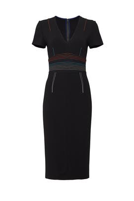 Black Stitched Sheath by Diane von Furstenberg