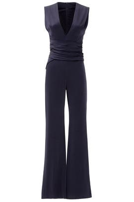 Midnight Wrap Jumpsuit by GALVAN