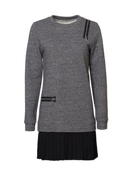 Grey Sparkle Sweatshirt Dress by Nicole Miller