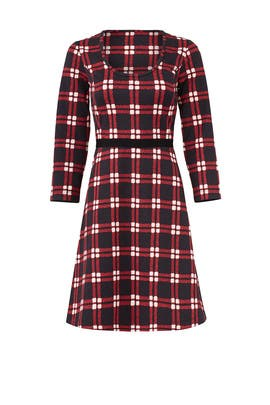 Windowpane Knit Dress by Draper James