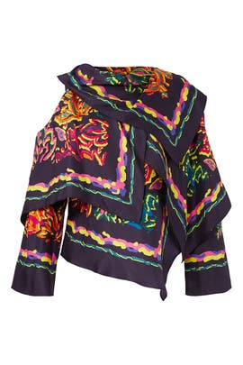 Multi Silk Twill Top by Peter Pilotto