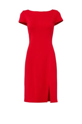 Red Milano Dress by St. John Collection