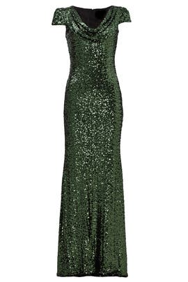 Emerald Scarlet Gown by Badgley Mischka