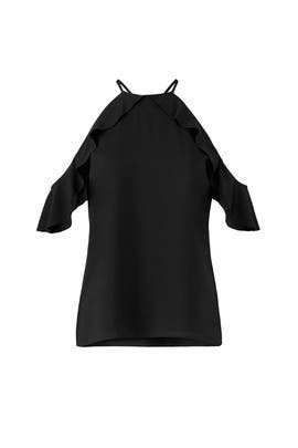 Black Saga Ruffle Top by Cooper & Ella