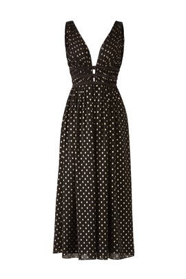 Polka Dot Plunge Dress by ML Monique Lhuillier