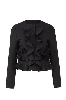 Ruffled Crop Jacket by MSGM