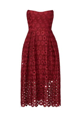Red Spot Lace Ball Dress by Nicholas