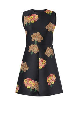 Floral Jacquard Dress by RED Valentino