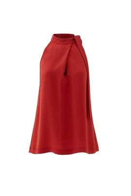 Red Maysprin Top by Theory