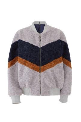 Colorblock Teddy Faux Fur Jacket by J.O.A.