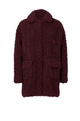 Plum Mariko Faux Shearling Jacket by Opening Ceremony