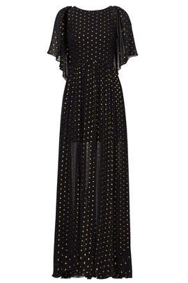 Gold Dot Ethereal Gown by Rebecca Minkoff