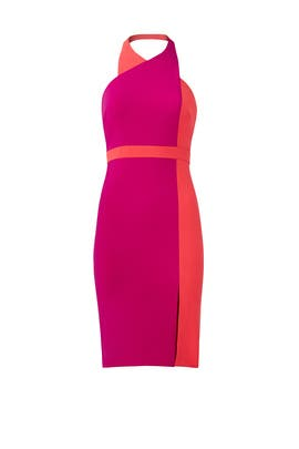 Colorblocked Halter Dress by Badgley Mischka