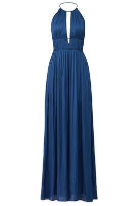 Blue Flowy Jumpsuit by Halston Heritage