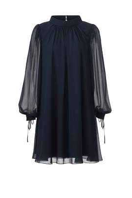 Navy Swing Dress by Badgley Mischka