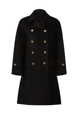 Black Oversized Coat by The Kooples