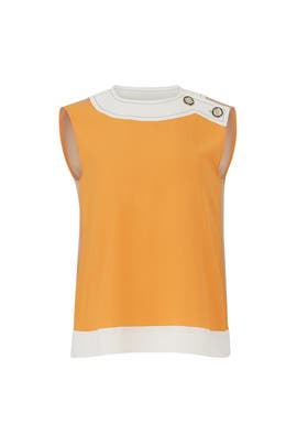 Buttoned Coloblock Top by Marni