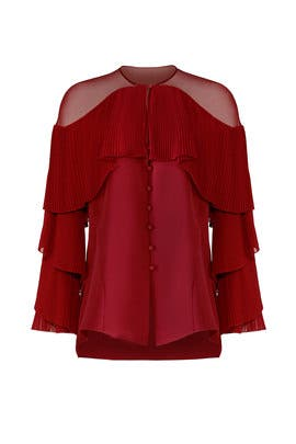 Silk Cady Blouse by Prabal Gurung