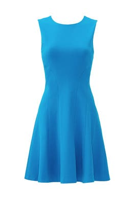 Blue Citra Dress by Diane von Furstenberg