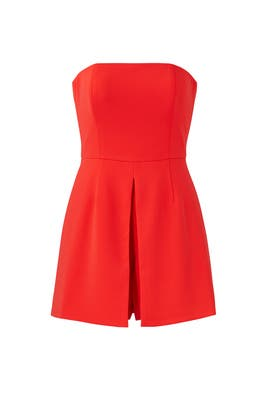 Red Bailor Romper by Jay Godfrey