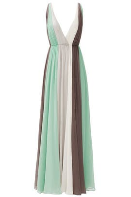 Green Earth Gown by Halston Heritage