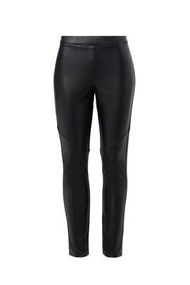 Black Faux Leggings by Josie by Natori