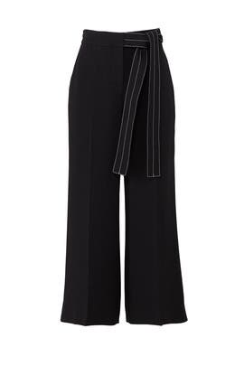 Belted Wide Leg Pant by Jason Wu Grey