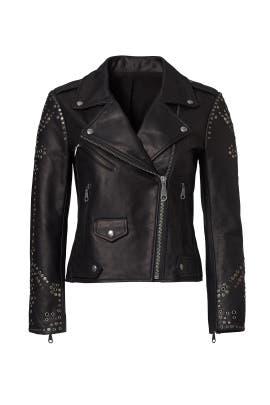 Black Studded Moto Jacket by Rebecca Minkoff