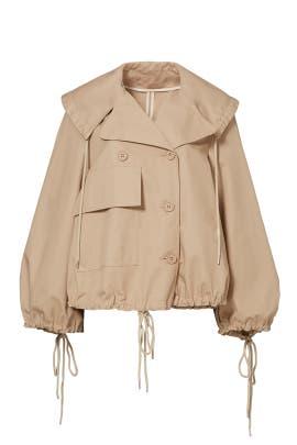 Beige Poncho Rain Jacket by See by Chloe