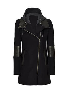 Black Corey Hooded Coat by Andrew Marc
