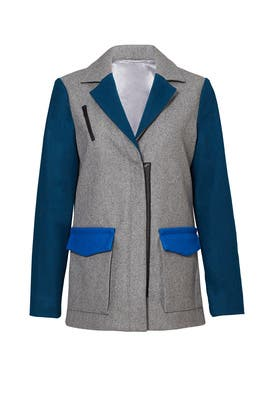 Archie Colorblock Coat by Ellie Mae