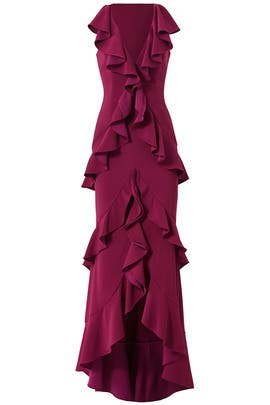 Plum June Gown by Jay Godfrey