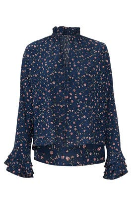 Blue Floral Rachel Blouse by Cleobella