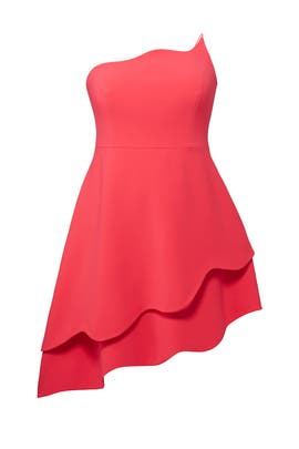 Raspberry Ruffle Dress by Christian Siriano
