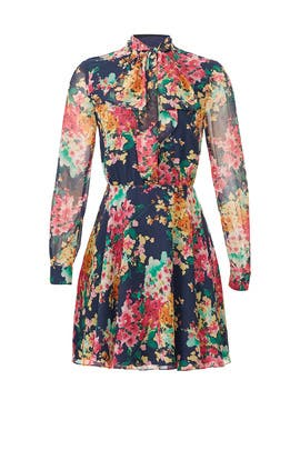 Navy Floral Jill Dress by Jay Godfrey