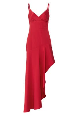 Red High Low Dress by Nicole Miller
