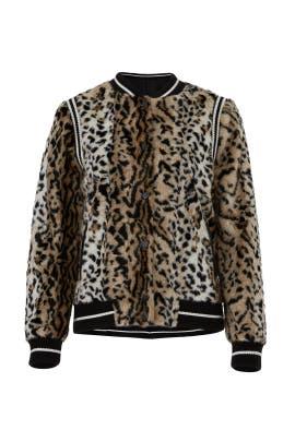 Faux Fur Emanuela Bomber Jacket by Saylor