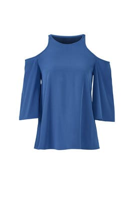 Heavy Silk Cutout Top by Tibi