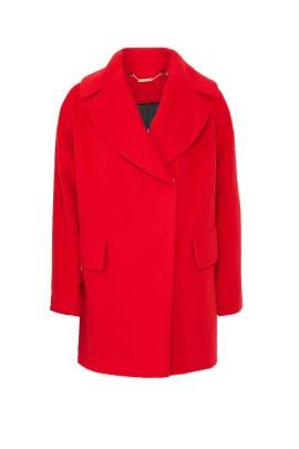Tomato Ruby Coat by Trina Turk