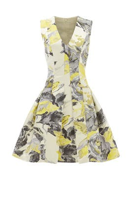Citrus Flare Dress by Carmen Marc Valvo