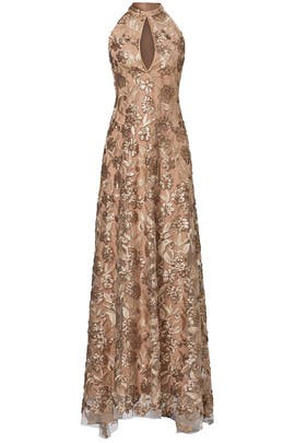 Gold Joan Gown by ERIN erin fetherston