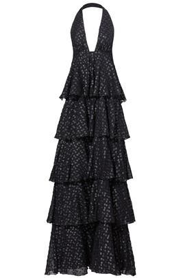 Black Dotted Isabel Gown by Jill Jill Stuart