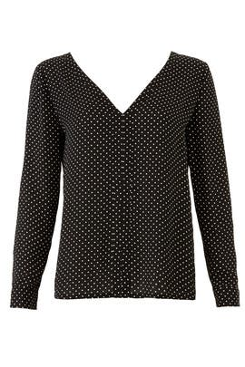 Polka Dot Coma Top by Rebecca Minkoff